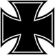 Eisernes Kreuz Aufkleber Sticker Iron Cross 5cm