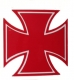 Eisernes Kreuz Aufkleber ROT Sticker Iron Cross 10 x 10cm